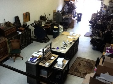 Overhead shot of the new shop!