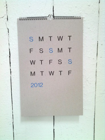 Hedges Creative calendar